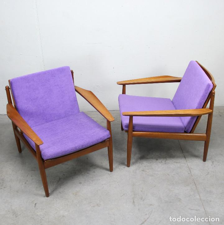 Antigüedades: Pareja de sillones nórdicos - Foto 3 - 225823076