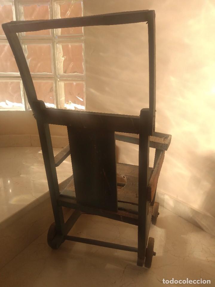 Antigüedades: Impresionante antigua silla carrito trona de entre 1800-1900 - Foto 2 - 225960835