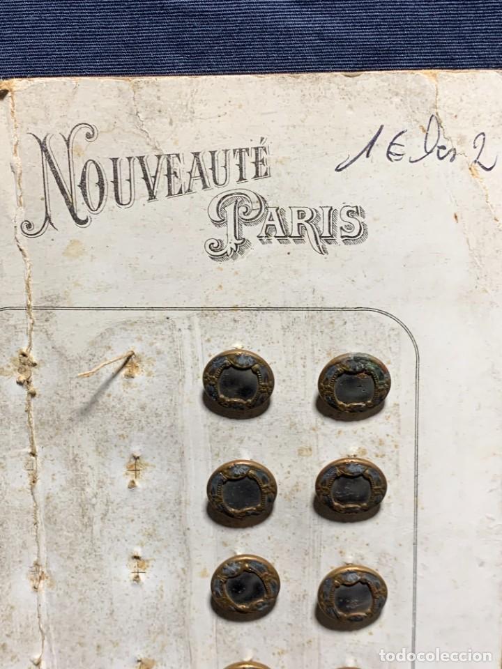 Antigüedades: 12 botones ppio s xx nouveaute paris depose 12mm - Foto 2 - 225961102