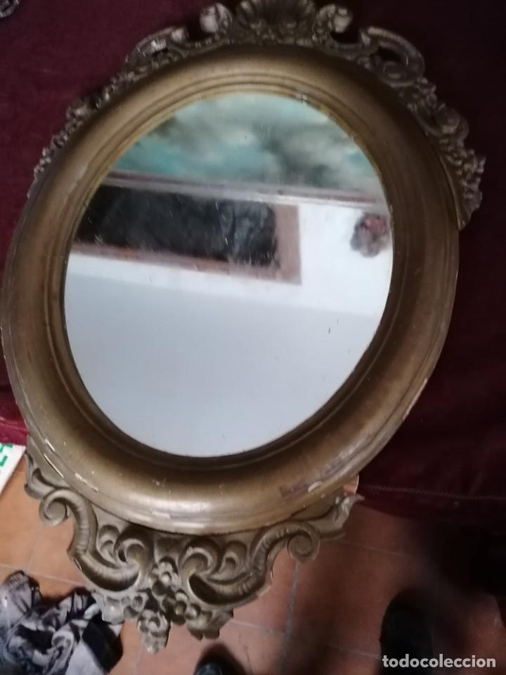 Antigüedades: espejo antiguo - Foto 2 - 225963293