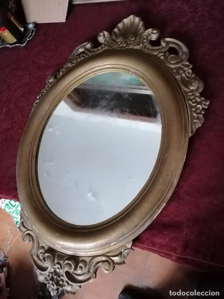 Antigüedades: espejo antiguo - Foto 3 - 225963293