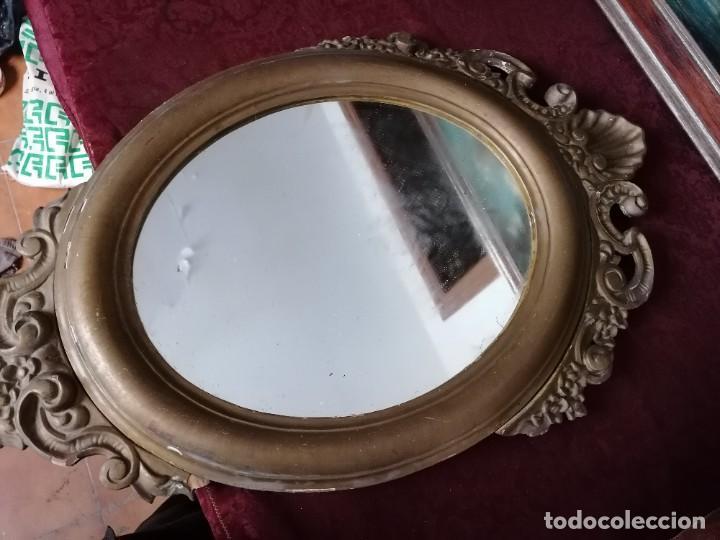 Antigüedades: espejo antiguo - Foto 6 - 225963293