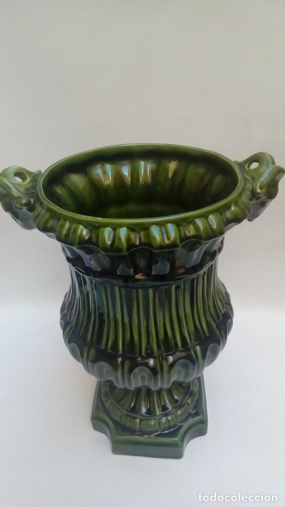 Antigüedades: macetero de ceramica mayolica- - Foto 2 - 225964176