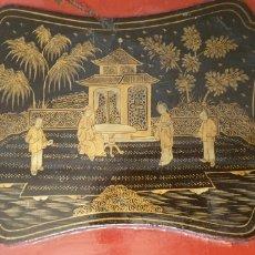 Antigüedades: MESA DE CAJA DE MANTÓN DE MANILA, S. XIX. Lote 225965588