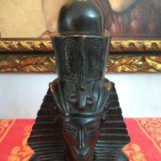 Antigüedades: FIGURA DIOS EGIPCIO REPRODUCCION AÑOS 70 VINTAGE. Lote 225996420