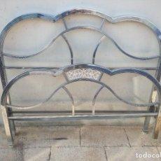 Antigüedades: CAMA DE 1 CUERPO BRONCE NIQUELADO-. Lote 225997070