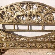 Antigüedades: CAMA DE BRONCE DE 2 CUERPOS. Lote 225998848