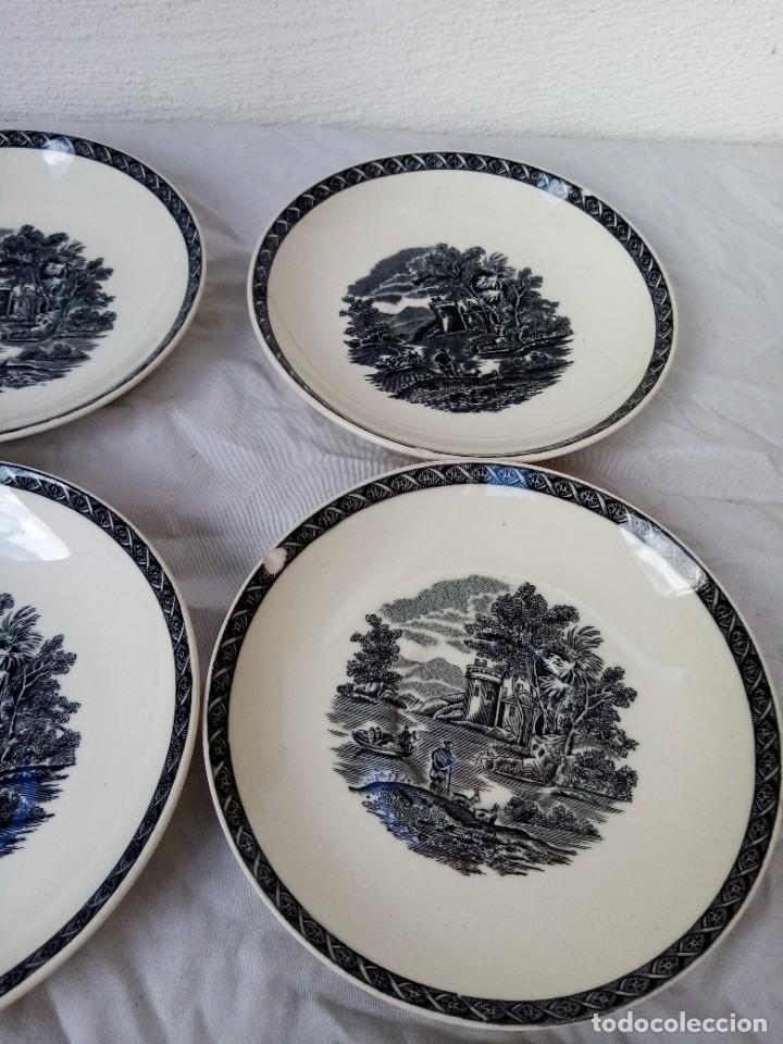 Antigüedades: Juego de 4 platos de porcelana de la marca ( Wedgwood) made in england - Foto 2 - 226004022