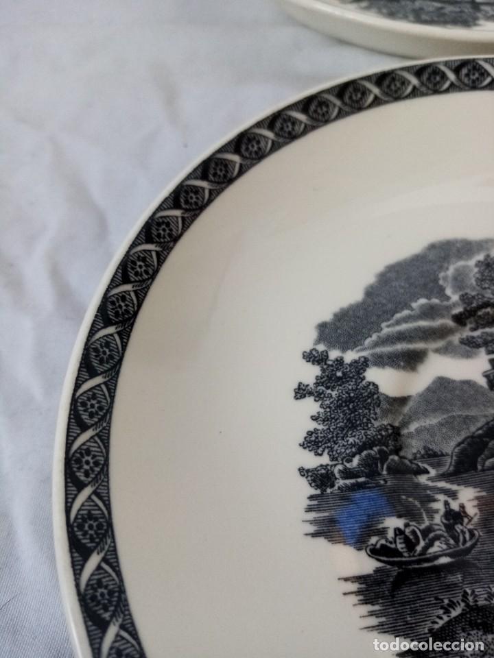 Antigüedades: Juego de 4 platos de porcelana de la marca ( Wedgwood) made in england - Foto 3 - 226004022