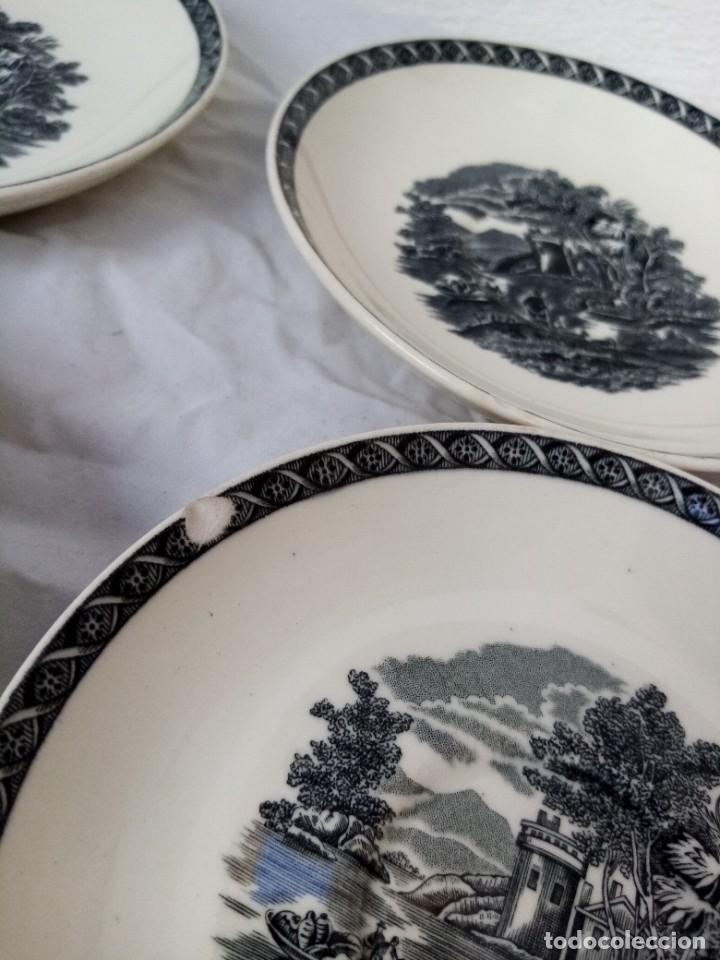 Antigüedades: Juego de 4 platos de porcelana de la marca ( Wedgwood) made in england - Foto 4 - 226004022