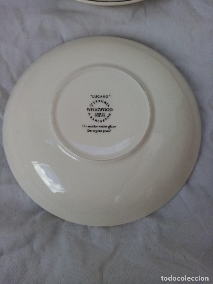 Antigüedades: Juego de 4 platos de porcelana de la marca ( Wedgwood) made in england - Foto 7 - 226004022