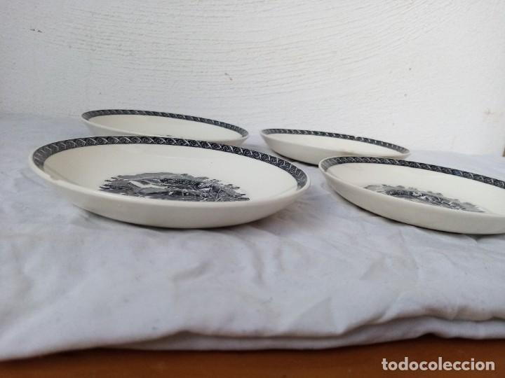 Antigüedades: Juego de 4 platos de porcelana de la marca ( Wedgwood) made in england - Foto 8 - 226004022