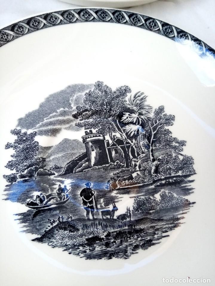 Antigüedades: Juego de 4 platos de porcelana de la marca ( Wedgwood) made in england - Foto 9 - 226004022