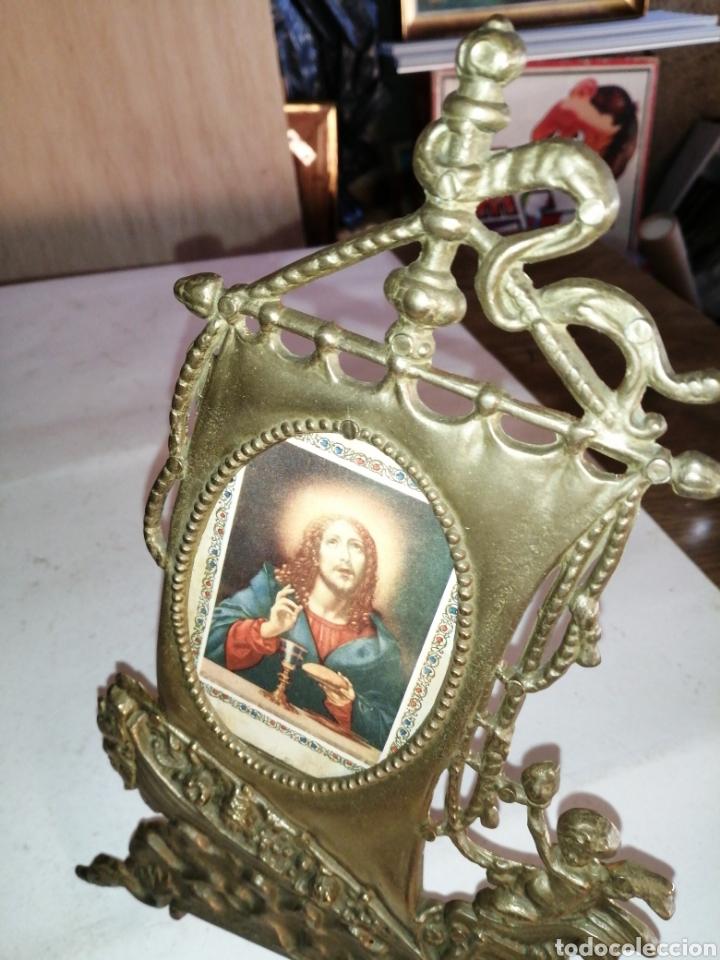 Antigüedades: Antiguo portafotos en bronce - Foto 3 - 226015965