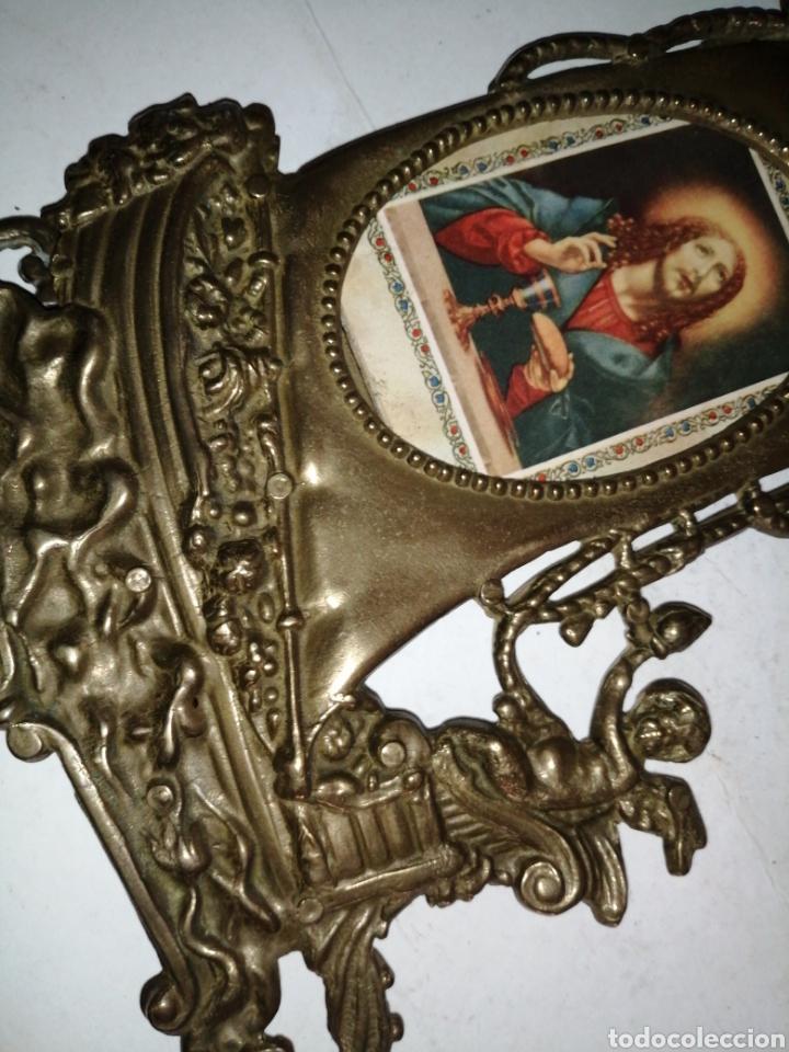 Antigüedades: Antiguo portafotos en bronce - Foto 7 - 226015965