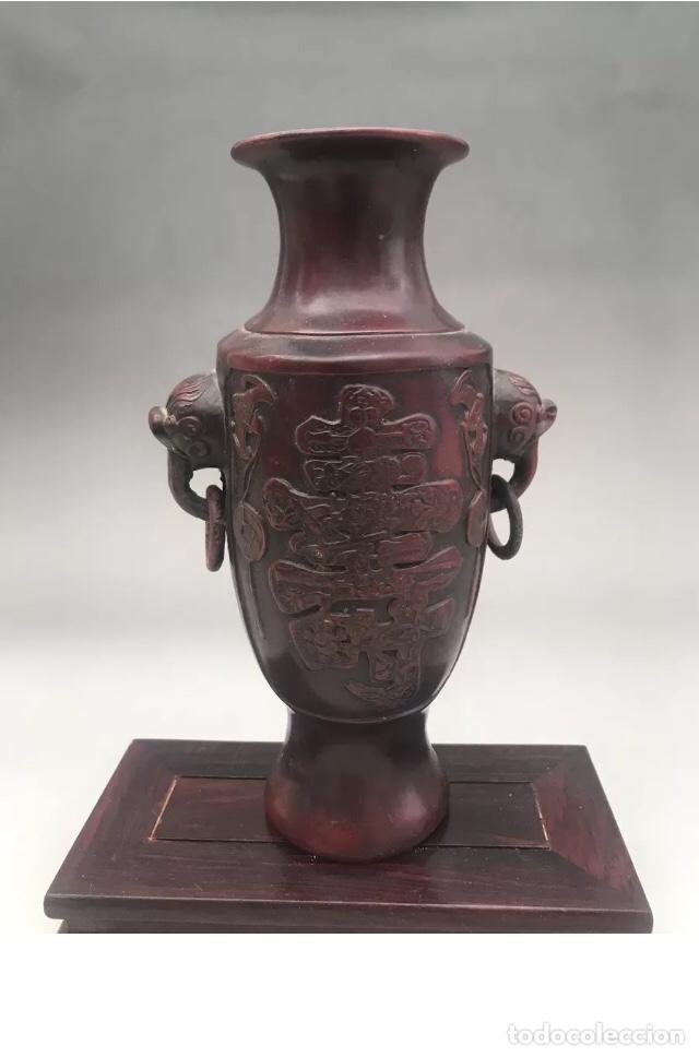 FLORERO JARRÓN ANTIGUO JAPONÉS AÑOS 20 , MUY ELEGANTE (Antigüedades - Hogar y Decoración - Floreros Antiguos)