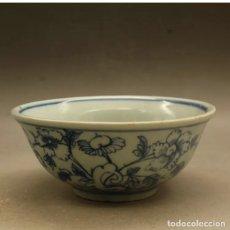 Antigüedades: ANTIGUO CUENCO JAPONÉS DE PORCELANA PERIODO EDO. PINTADO A MANO. Lote 226055615