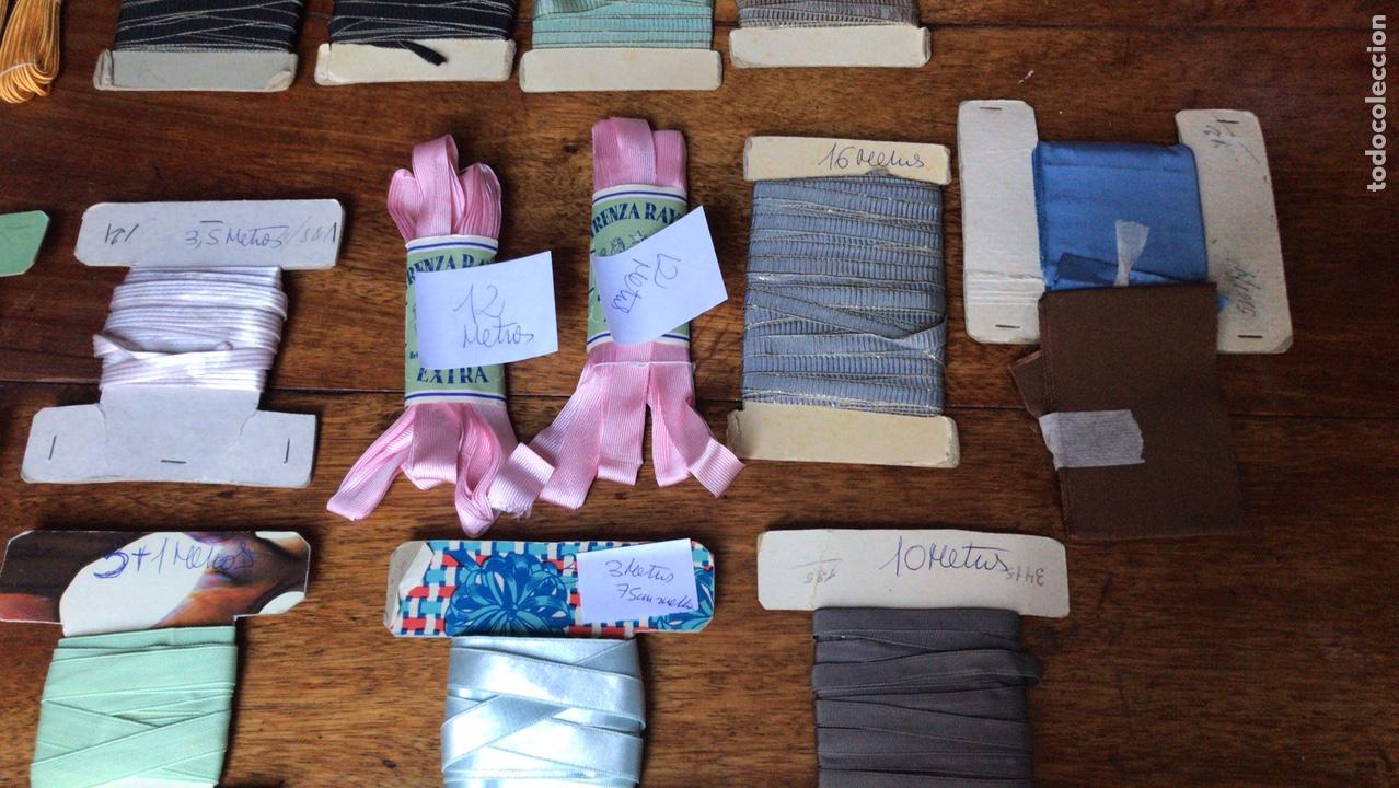 Antigüedades: Lote cintas mercería antigua - Foto 4 - 226074875