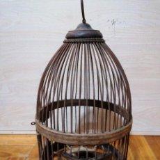 Antigüedades: JAULA PERDICES ARTESANAL. Lote 226083385