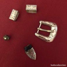 Antigüedades: ANTIGUA HEBILLA Y PUNTERA DE CINTURÓN. Lote 226103685