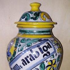 Antigüedades: SMS- TARRO / ALBARELO FARMACIA. GOMA ARABIGA. FIRMADO SAWES. Lote 226116295
