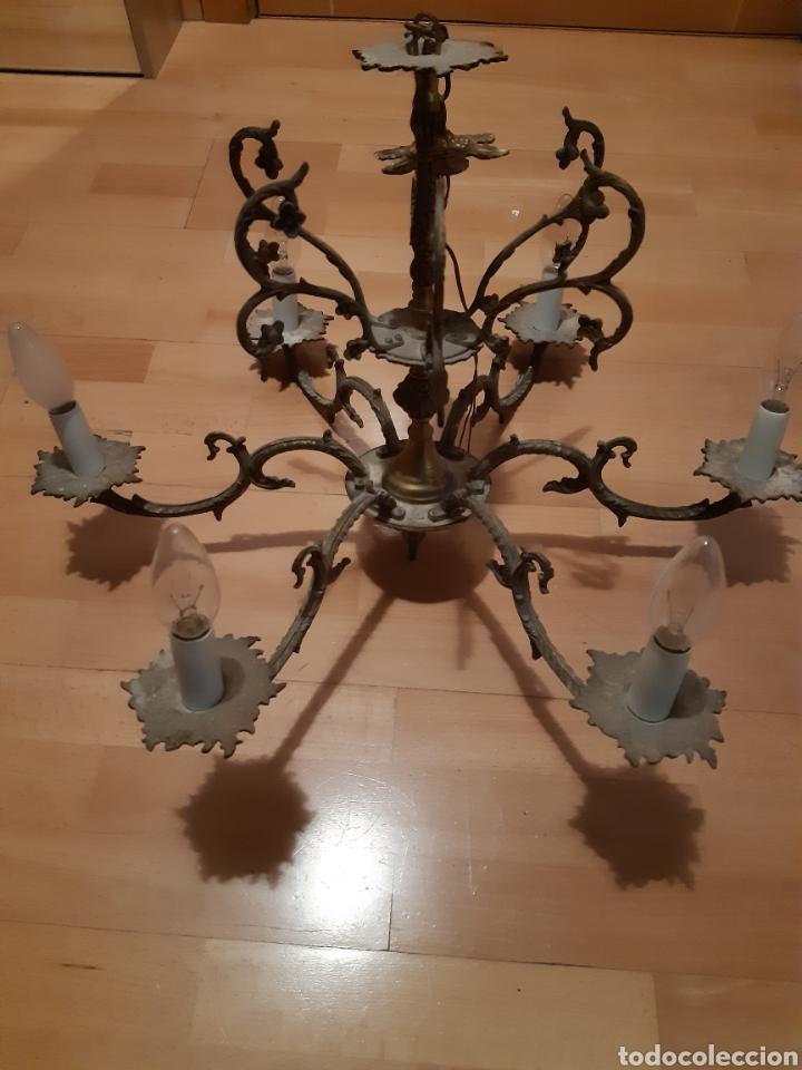 Antigüedades: Preciosa Lampara colgante realizada en Bronce antiguo. Ver descripción - Foto 2 - 226124490