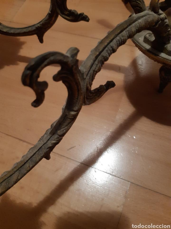 Antigüedades: Preciosa Lampara colgante realizada en Bronce antiguo. Ver descripción - Foto 8 - 226124490
