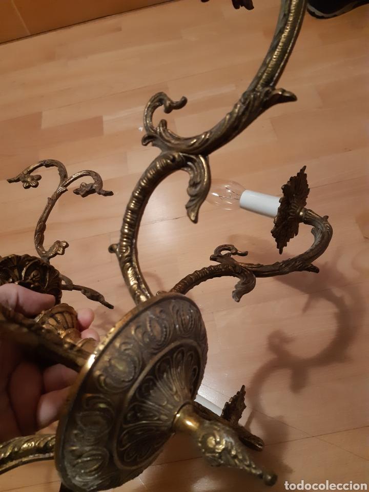 Antigüedades: Preciosa Lampara colgante realizada en Bronce antiguo. Ver descripción - Foto 11 - 226124490