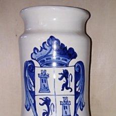 Antigüedades: SMS- TARRO / ALBARELO FARMACIA. AGAR AGAR. TALAVERA PIEZA ÚNICA NUMERADA. Lote 226124920