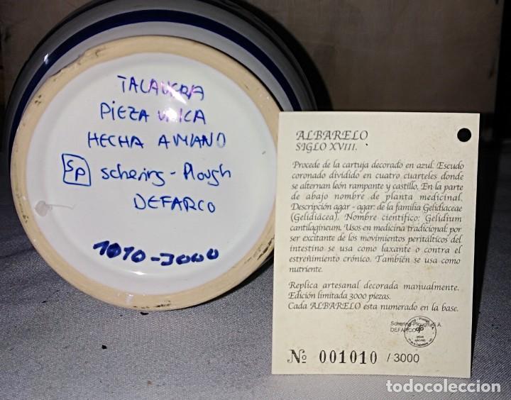 Antigüedades: SMS- TARRO / ALBARELO FARMACIA. Agar agar. TALAVERA PIEZA ÚNICA NUMERADA - Foto 3 - 226124920