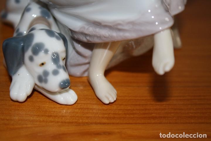 Antigüedades: Porcelana Lladro de chica por teléfono - nueva en caja - Foto 13 - 226125178