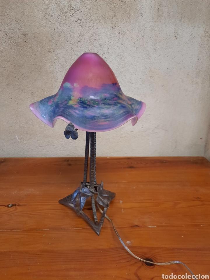 LÁMPARA SETA DE MESA MODERNISTA (Antigüedades - Iluminación - Lámparas Antiguas)