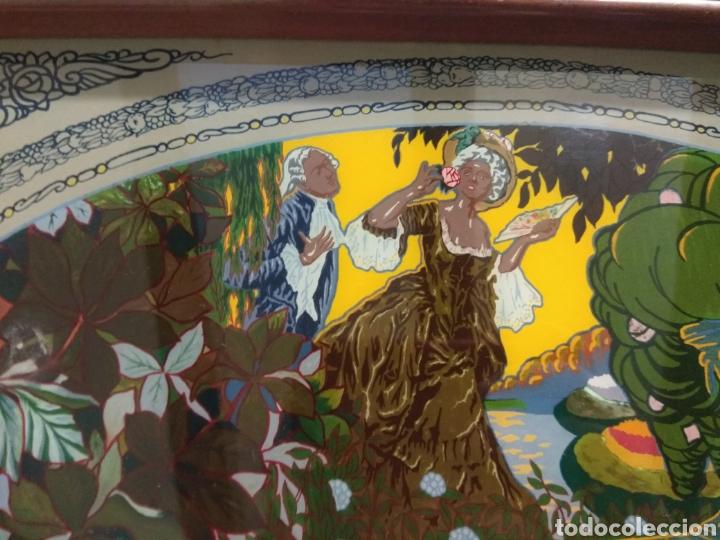 Antigüedades: Antiguo Bandeja Modernista de Madera de Caoba y Cristal Pintado - - Foto 8 - 226139570
