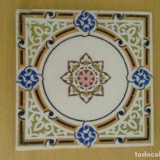 Antigüedades: AZ-88A AZULEJO ANTIGUO MODERNISTA LAUBURU ROSA DE LOS VIENTOS. Lote 226141325