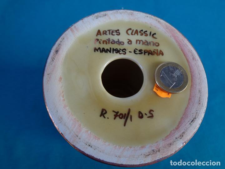 Antigüedades: COPÓN CÁLIZ CERÁMICA REFLEJO DE MANISES - Foto 3 - 226143185