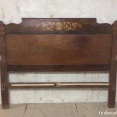 Antigüedades: CABECERO DE MADERA DE CAOBA SIGLO XX. Lote 226206595