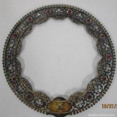 Antigüedades: CORONA - PLATA DE LEY, SOBREDORADA - SELLO MANUEL BELAU, BARCELONA 1886 - DIÁMETRO 26 CM. Lote 226213390