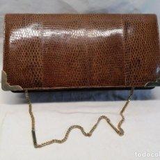 Antigüedades: BOLSO DE PIEL. Lote 226254100