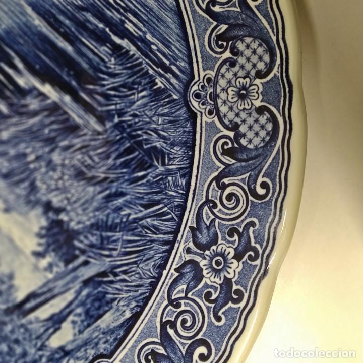 Antigüedades: Plato holandés de cerámica decorativa Delft, azul cobalto. Made for Royal Sphinx by Bosch. - Foto 4 - 226260276