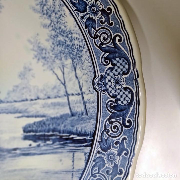 Antigüedades: Plato holandés de cerámica decorativa Delft, azul cobalto. Made for Royal Sphinx by Bosch. - Foto 5 - 226260276