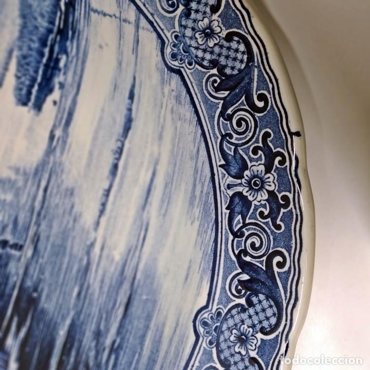 Antigüedades: Plato holandés de cerámica decorativa Delft, azul cobalto. Made for Royal Sphinx by Bosch. - Foto 8 - 226260276