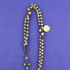Antigüedades: ANTIGUO ROSARIO SIGLO XIX. 60 CM DE LARGO TOTAL.. Lote 226263095