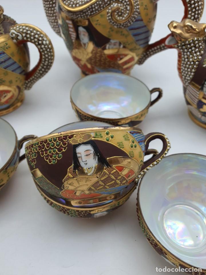 Antigüedades: ESPETACULAR PORCELANA JAPONESA ( 3 TETERAS, 5 TAZAS SIN PLATITO ) VER FOTOS - Foto 5 - 226292405