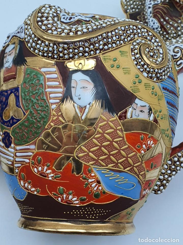 Antigüedades: ESPETACULAR PORCELANA JAPONESA ( 3 TETERAS, 5 TAZAS SIN PLATITO ) VER FOTOS - Foto 20 - 226292405