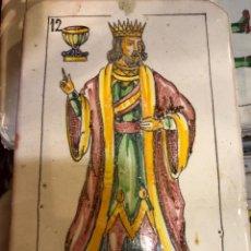 Antigüedades: 11 AZULEJOS EN FORMA DE NAIPE PINTADOS A MANO. Lote 226297895