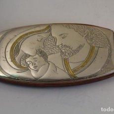 Antigüedades: SANTA FAMILIA VIRGEN MARÍA SAN JOSÉ NIÑO JESÚS EN PLATA DE LEY 925. Lote 244629645