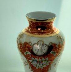 Antigüedades: FLORERO 1802 TRIPLEX ESMALTE BLANCO, OPALINA Y ORO. Lote 226338500