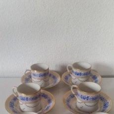 Antigüedades: ANTIGUIO Y ARMOSO JUEGO A CAFE PORCELANA LESENTHAL N.66,,ANOS 20,30HECHO Y PINTADO A MANO. Lote 226353865