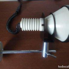 Antigüedades: LAMPARA TRAMO APLIQUE BLANCO PARED MIGUEL MILÁ VINTAGE RETRO INDUSTRIAL ESPAÑA 60'S. Lote 226355405