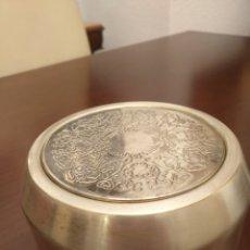 Antigüedades: CENICERO DE ACERO. Lote 226377480